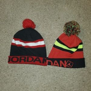 Two Jordan Beanies